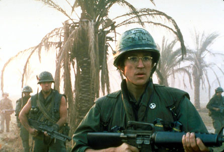full metal jacket and platoon Full metal jacket just because the first half of the movie is done so well the end of the first half has problably one of the most memorable scenes from a movie platoon isn't very behind though.